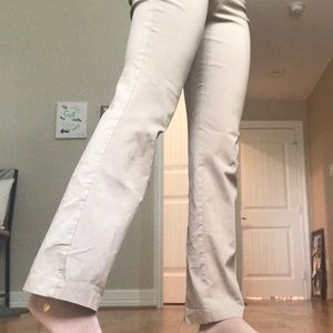 khaki boot cut pants